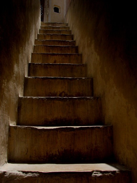 Narrow staircase of the palace
